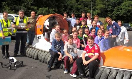 6th Class Ballyvary Students with EPA Vols Michelle McKim JOhn Gibbonos Robert Wilkes and Brid Farragher