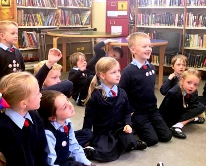 Donegal Co Co County Library visit Senior Infant students from St. Patricks N.S. Letterkeny